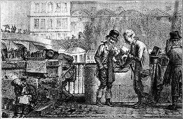 bouquiniste vers 1820
